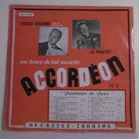 33T Loulou LEGRAND & Jo MOUTET Disque LP HEURE DE BAL MUSETTE ACCORDEON -THOMSON