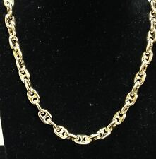 14k Solid Yellow Gold Anchor Mariner chain/necklace 8 MM 80 Grams 20""