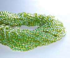 "Natural Green Peridot Round Gemstone Loose Beads Size 4mm 15.5"" Per StrandR-S-PR"