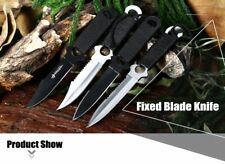4pcs Stainless Steel Fixed Blade Knife with Storage Bag throwing knife