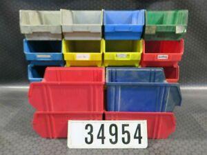 20 Stück Gr. 4 Stapelboxen Sichtlagerboxen Sichtlagerkästen Stapelkästen #34954