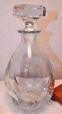 Vintage Strombergshyttan Swedish Art Glass Crystal Blue 558 Decanter + 4 Glasses