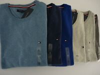 NWT Tommy Hilfiger Crew neck Sweater For Man Multi Color S M L  Last Ones !