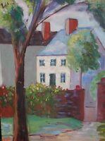 Rockport Massachusetts Original Oil Painting SUMMER House Impressionist Cezanne