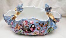 1881 Continental Fine Painted Porcelain Basket Magnificent