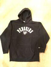 Pittsburgh Penguins Reebok Face Off Black Hooded Sweatshirt Hoodie Youth L