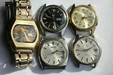 Lot (5) VINTAGE Seiko Automatic Mens Watches 6309 Dolphin Sportsmatic = NEED TLC