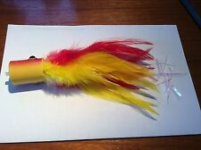 1 extra Large Red and Yellow Tube Fly  Sea Habit Billfish Popper (bt)