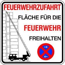 Schild Alu Feuerwehrzufahrt Fläche für die Feuerwehr Haltverbot 500x500mm
