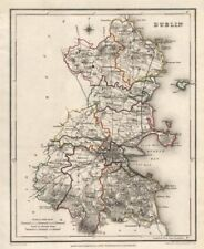 COUNTY DUBLIN antique map for LEWIS by CREIGHTON & DOWER. Ireland 1846 old