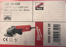 Amoladora Profesional MILWAUKEE AG10-125 Radial Esmeril 1010 w 4933 4074 25