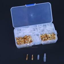240pcs 3.5mm Motorcycle Brass Bullet Connector Terminal Male & Female + Covers