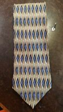 Crescenzo Blue Brown Diamond Executive Designer Mens Suit Necktie Free Shipping