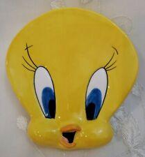 Tweety Bird Soap Dish Holder Handpainted Yellow Ceramic Warner Bros Looney Tunes