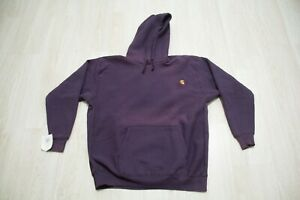Vintage Carhartt 90s NEW Hoodie Mens Size XXL Purple Rugged Outdoor Wear USA