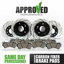 Front and Rear Drilled & Slotted Brake Rotors with Ceramic Pads Magnum 2005-2008