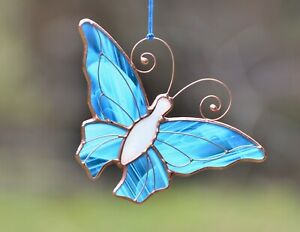 Stained glass butterfly suncatcher, windows glass hangings