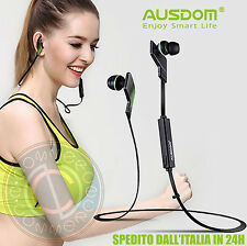 AUSDOM JOGTO WIRELESS BLUETOOTH HEADPHONE AURICOLARI VIVAVOCE IPHONE 7 SAMSUNG 8