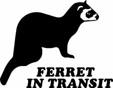 Ferret in Transit Car Window Land Rover Stickers SBFE1