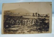 MARCHING GERMAN TROOPS CHAMPAGNE WWI REAL PHOTO POSTCARD WORLD WAR I c.1917