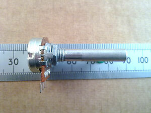 Long Shaft 16mm Mono Mixer Pot, Linear B Track Potentiometer Various Values
