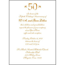 25 Personalized 50th Wedding Anniversary Party Invitations  - AP-007