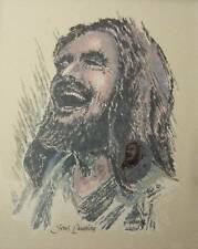 Original Jesus Laughing 8.5 x 11 Picture Print Christian religious Art NEW