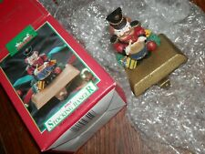 Christmas Stocking Hanger w/Cast Iron Base Christmas Toy Soldier 4.5 in. High