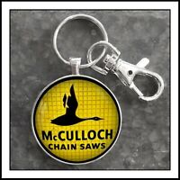 Vintage McCulloch Chain Saws  Sign Photo Keychain Gift Free Shipping Chainsaw