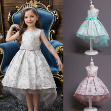 Flower Girls Long Maxi Dress Wedding Party Princess Bridesmaid Formal Prom Gown