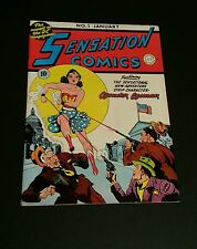 Sensation Comics # 1 1942 Oversized Golden Age Replica  1st Wonder Woman