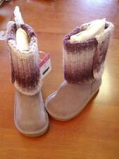Toddler Girl's Purple Faux Suede Boots w/Knitted Shaft  Size 5  NWTs!