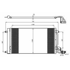Kondensator Klimaanlage - NRF 35910