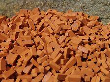 BULK BUY 1000 BARGAIN Small Scale Red REAL BRICK Miniature Bricks