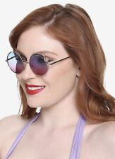 Disney The Little Mermaid Ariel Rose Gold Gradient Round Lens Sunglasses NWT!
