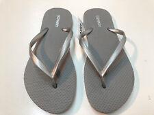 Old Navy Women Flip Flop Thong Sandals Flat Brown Olive Gray Sz 5,6,7,9