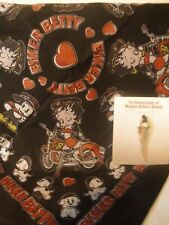 Biker Betty Boop Bandana with Women's Rider Necklace duo New