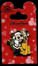 Santa Mickey Mouse and Pluto Reindeer Outfits Christmas Disney Pin 112195