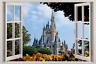 Disney Castle 3D Window Decal Wall Sticker Home Decor Art Mural Kids J168