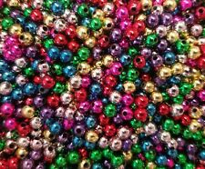 1,000 pcs Assorted Small Loose Plastic Pearls 5mm Round Beads for Beading Crafts