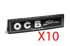 OCB PREMIUM BLACK KING SIZE SLIM X10 SMOKING CIGARETTE ROLLING PAPERS