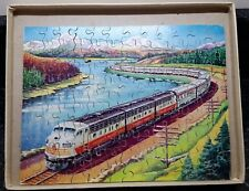Complete Hayter Vintage Victory Wooden Jigsaw Puzzle  The Canadian Train 125 pcs