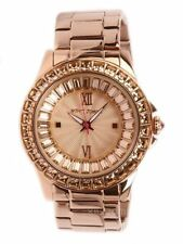 Betsey Johnson Women's Rose Gold Crystal Watch BJ00004-17