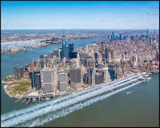 USAF F-16 Thunderbirds & USN Blue Angels Over New York #6 8x10 Photos