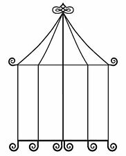 Large Bird Cage / Circus Tent Unmounted Rubber stamp - SA-7152