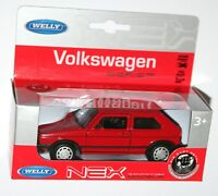 Welly - VW Volkswagen GOLF MkI GTi (Red) Die Cast Model - Scale 1/34-1/39