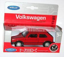 Welly-VW VOLKSWAGEN GOLF MKI GTI (Rojo) Die Cast Modelo Escala 1/34-1/39
