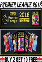 Topps Merlin PREMIER LEAGUE 2018 SINGLE STICKERS  #1-249 Buy 2 Get 10 Free!
