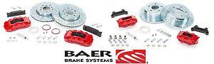 BAER Brake System Front & Rear Kit - Red / Black for 2007-2018 Jeep Wrangler JK