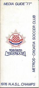 1976 Toronto Metros-Croatia Media Guide